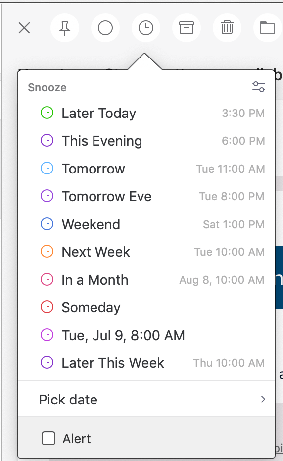 The Spark mail client now allows you to send later and have follow-up reminders