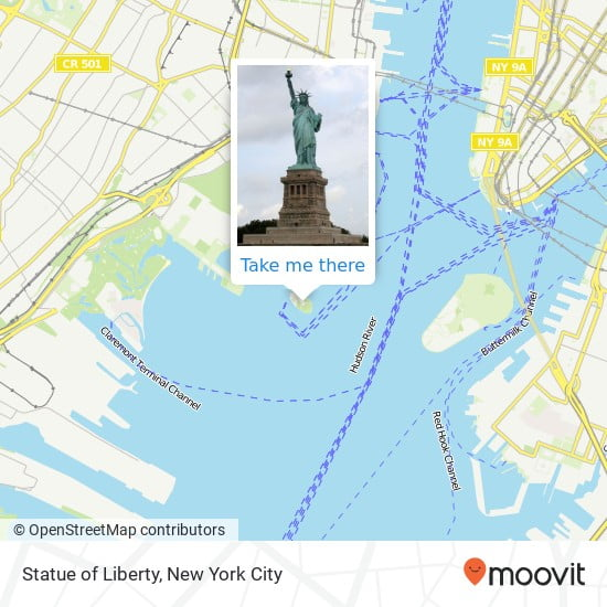 The Statue of Liberty with all the details in this app