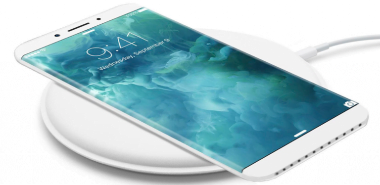 """The """"water drop design"""" of the original iPhone and how it would be implemented on the tenth anniversary iPhone"""