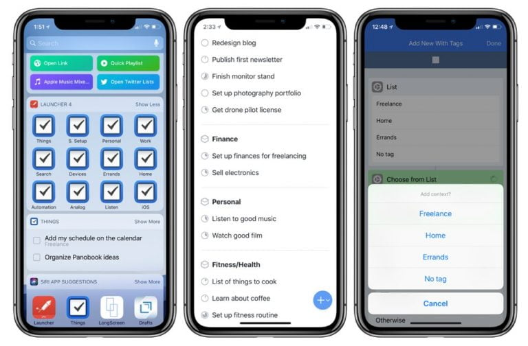 Things for iOS and macOS is updated, now allows to send tasks from an email, create workflows and automations