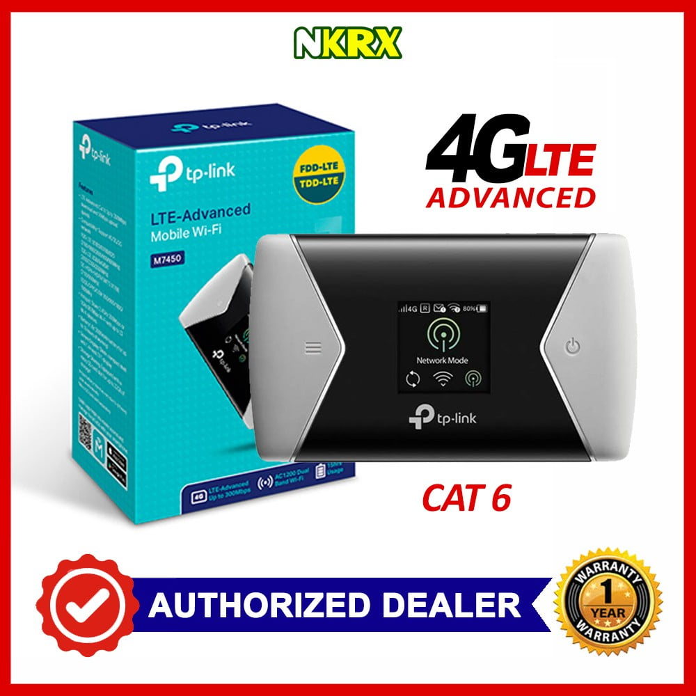 TP-LINK M7450 Mobile Wi-Fi Router 4GLTE 300Mbps
