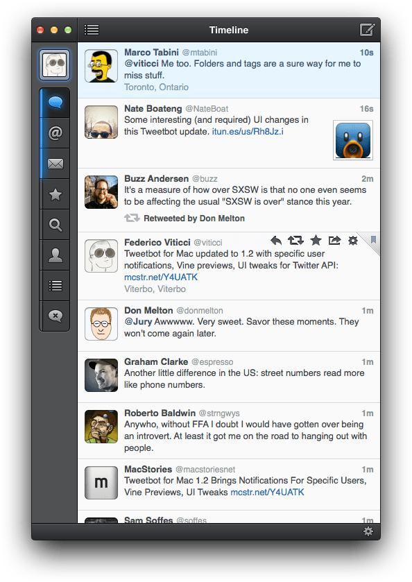 Tweetbot for Mac is updated with support for Vine and Flickr, previous versions will stop working on March 5th
