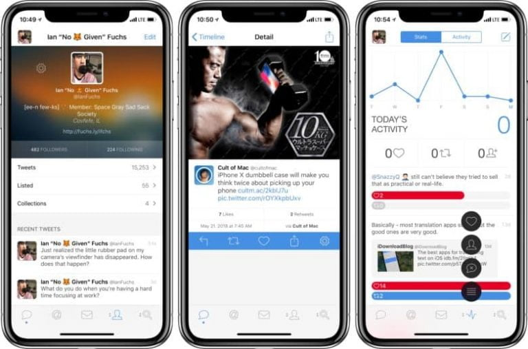Tweetbot updates and brings us synchronization of your applications with iCloud
