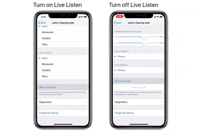 Using your AirPods with Live Listen in iOS 12 for better listening