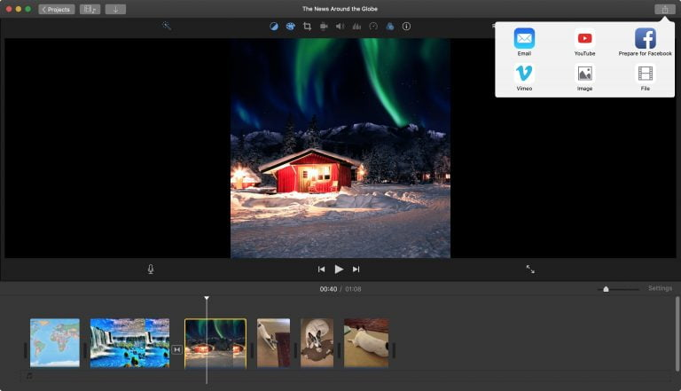 watch the videos on your mac on the iPhone via streaming