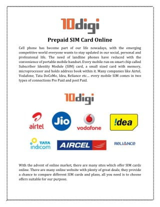 """""""We have cunning plans for the prepaid market"""""""