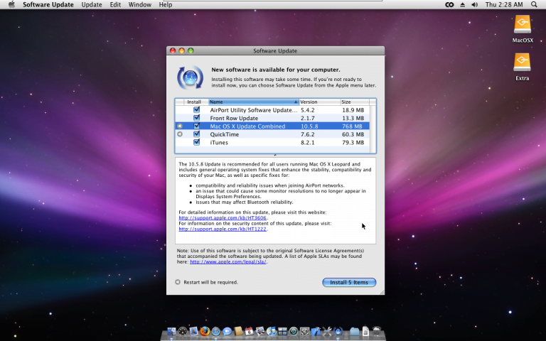 What's new in Mac OS X 10.5.2