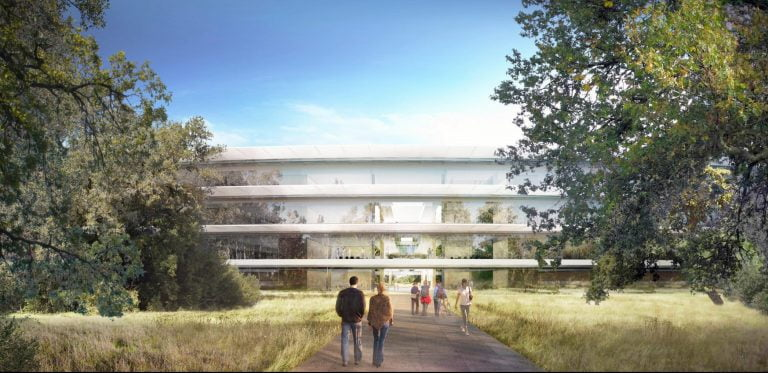 you can already see the inside of Apple's Campus 2 almost finished