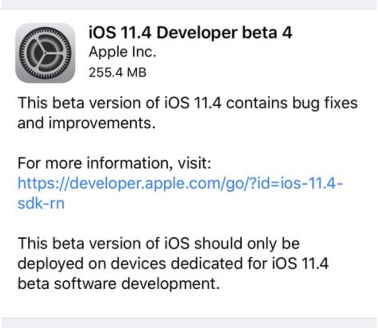You can now download the fifth beta of iOS 11.3, macOS 10.13.4 and tvOS 11.3