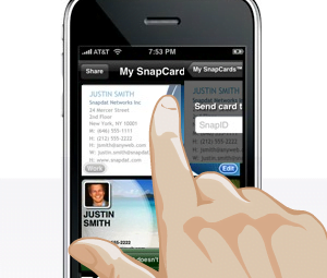 You want to impress people? Then make yourself a business card with an iPhone screen