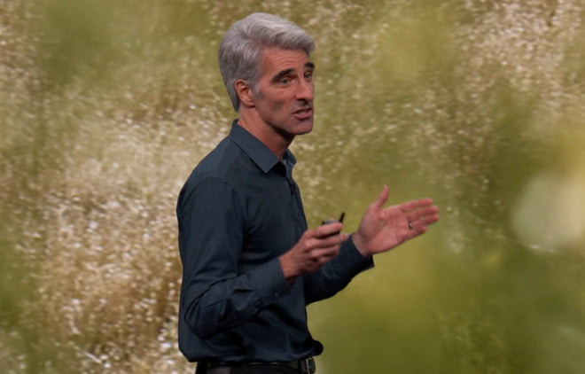your cursor is inspired by tvOS according to Craig Federighi