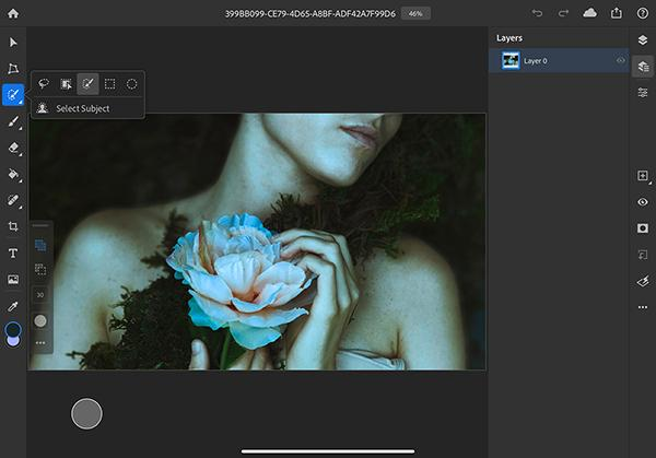 Photoshop for iPad updates and adds 'Subject Selection' function