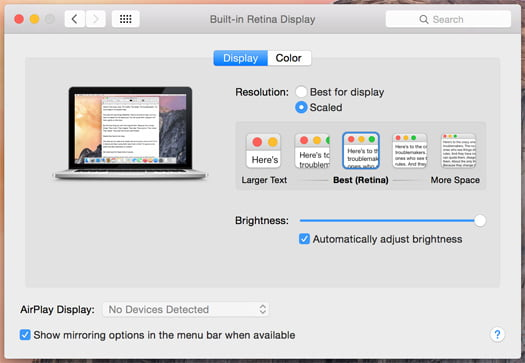 Quickres, get the most out of your Mac's Retina display